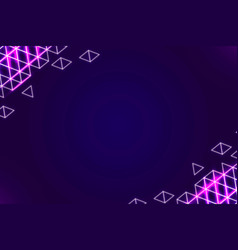 Neon geometric border on a dark purple background vector