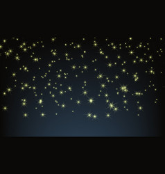 Night sky with full of stars twinkle vector