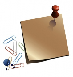 Notepaper with clips vector