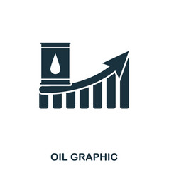 Oil increase graphic icon mobile apps printing vector