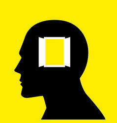 open your mind vector image