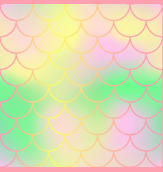Pastel fish skin with scale pattern mermaid tail vector