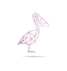 Pelikan abstract isolated vector