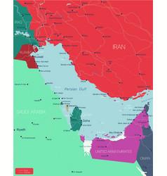 Persian gulf region editable map vector