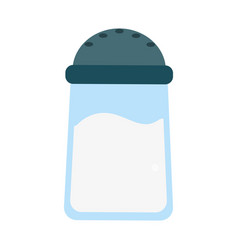 salt container food vector image