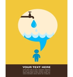 save water poster with raining tap vector image