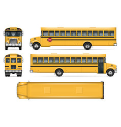 School bus mockup vector