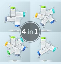 set four creative infographic design templates vector image