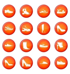 Shoe icons set vector