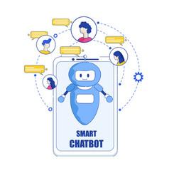 smartphone smart chatbot flat vector image