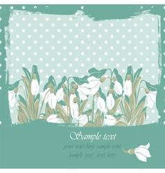 Snowdrop flowers Blossom spring card vector