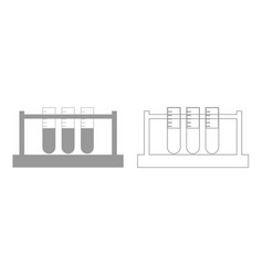 Test tube grey set icon vector