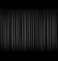 texture blank black curtain dark fabric pattern vector image