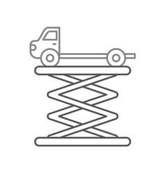 tow truck side view platform service maintenance vector image