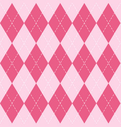 valentines dayr argyle pattern scottish cage vector image