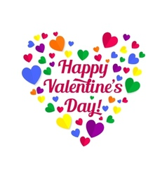 valentines lettering vector image
