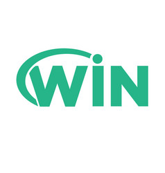 win logo designs modern and simple vector image