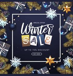 winter big sale poster vector image