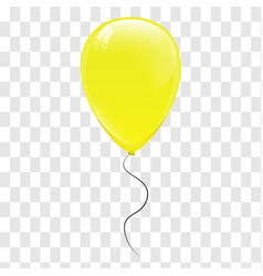 yellow balloons vector image