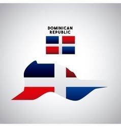 Dominican republic country design vector