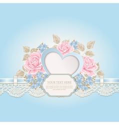 Floral background with lace vector image vector image