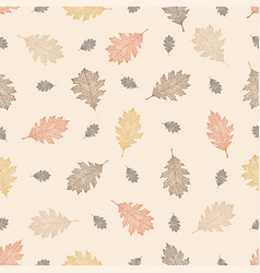 seamless pattern of leaves of northern red oak vector image vector image