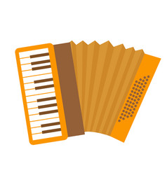 Accordion icon flat cartoon style musical vector