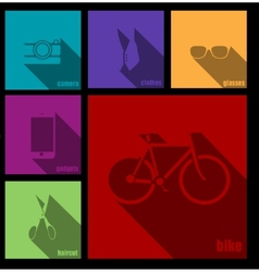 creative hipster accessories vector image