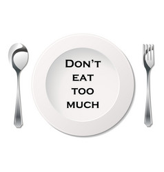 cutlery with slogan vector image vector image