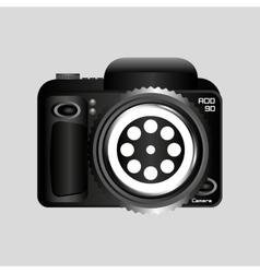 Digital photo camera reel film pin vector