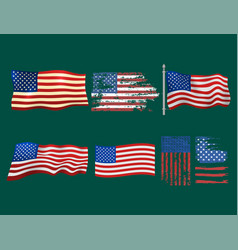 independence day usa flags united states american vector image