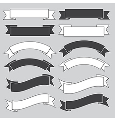 Old ribbon banner vector image vector image
