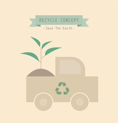 Recycle plant vector image vector image