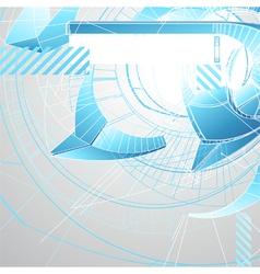 Abstract futuristic 3d high tech design vector image
