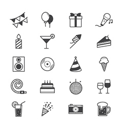 Celebration Party Icons Line vector image vector image