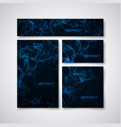 technology stationery with plexus lines and vector image
