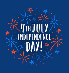 beautiful 4th of july decorative card vector image vector image
