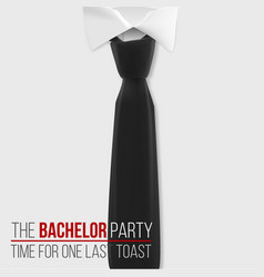 realistic white shirt the bachelor party vector image vector image