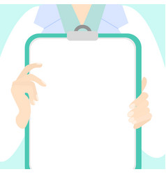 a doctor holding a vector image