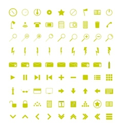 A set of universal WEB icons vector image vector image