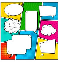 abstract creative concept comic pop art vector image