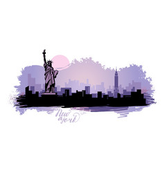 abstract landscape city with sights the vector image