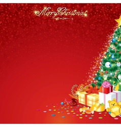Background with Christmas Tree vector