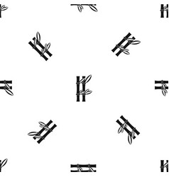 bamboo pattern seamless black vector image