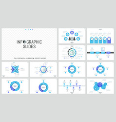 big bundle of simple infographic design templates vector image