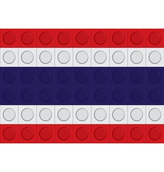 Block thailand flag pattern vector