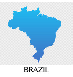 Brazil map in south america continent design vector