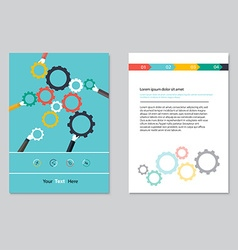 brochure template design Abstract BackgroundsFlat vector image