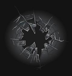 broken glass cracked window texture realistic vector image
