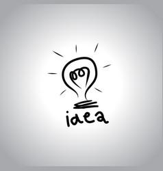bulb light idea concep vector image